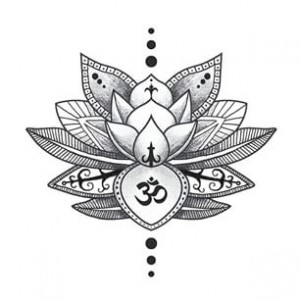 Om-Symbol-In-Lotus-Flower-Tattoo-Design